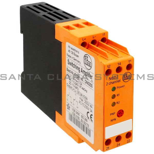 Efector DN0200 Power Supply | N602/110-240VAC/24VDC/2chan Product Image