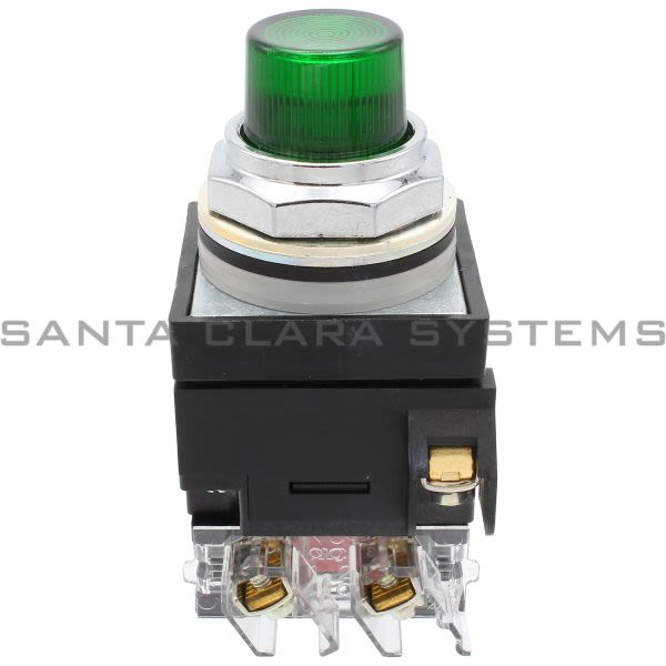 General Electric CR104PBT11G1S2 Pushbutton Illumin Green 120V Transformer 1NO-1NC Product Image