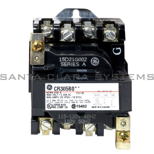 General Electric CR305B002 Contactor | CR305 115-120V Product Image