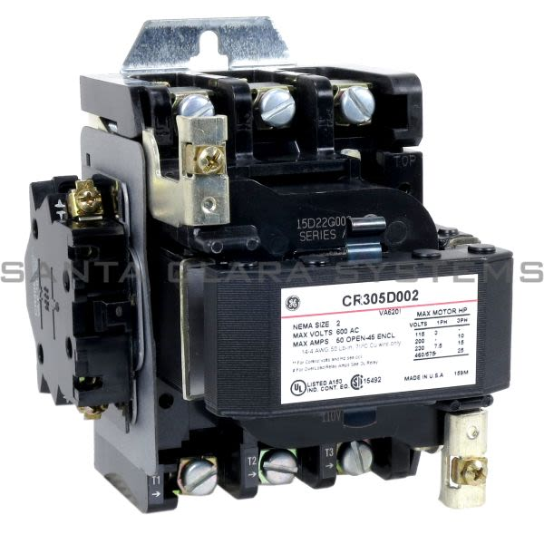 General Electric CR305D002 Contactor | CR305 115-120V Product Image