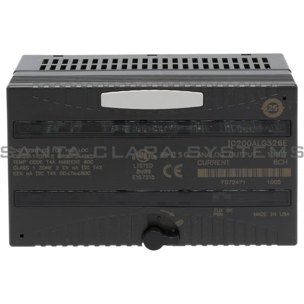 General Electric IC200ALG326 Output Module Analog 8 Channel 13Bit Current Product Image