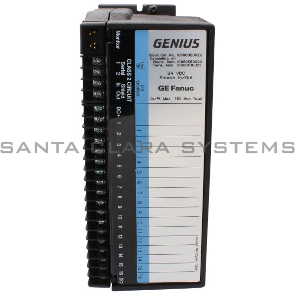General Electric IC660BBD022 24VDC Source I/O Block Product Image