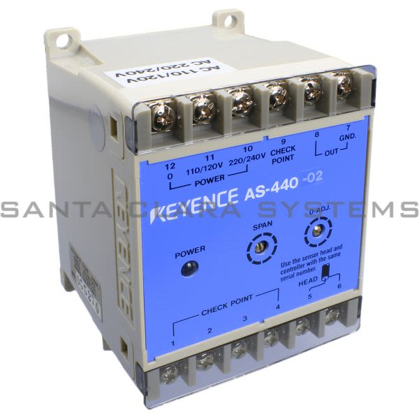 Keyence AS-440-02 Sensor Amplifier Product Image