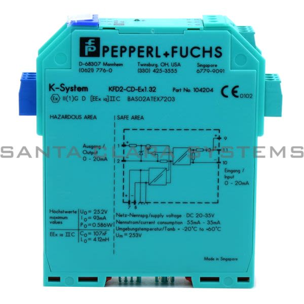 Pepperl+Fuchs KFD2CDEX1.32 Driver Current for Hazardous Areas Product Image