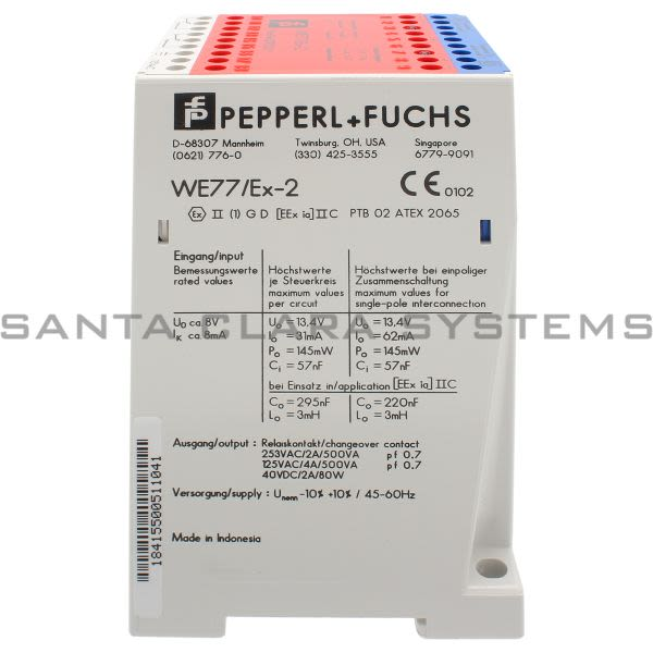 Pepperl+Fuchs WE77-EX2-115V Switch Isolator With Relay Outlet Product Image