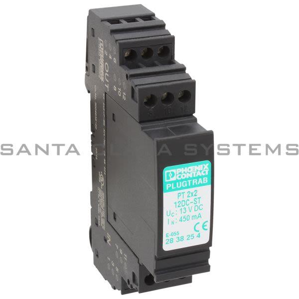 Phoenix Contact 2838254 Surge Protection Plug - PT 2X2-12DC-ST Product Image