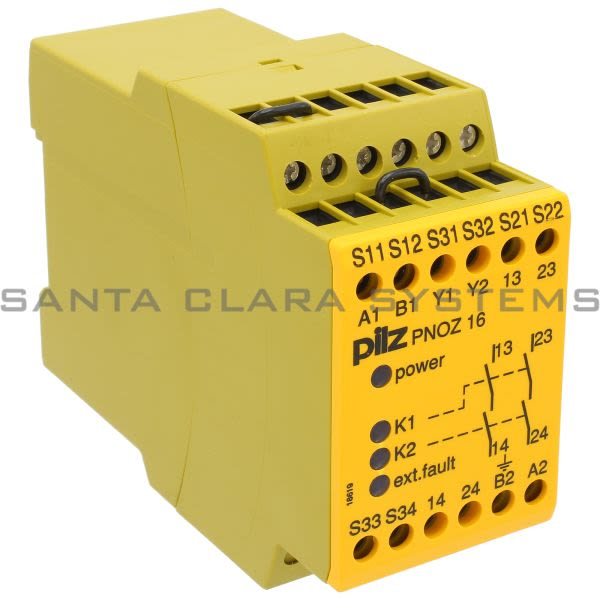 Pilz PNOZ16110VAC-24VDC2S-774063 Safety relay (standalone) Inputs: 1- / 2-channel wiring with detection of shorts across contacts Outputs: 2 N/O UB 110 V Product Image