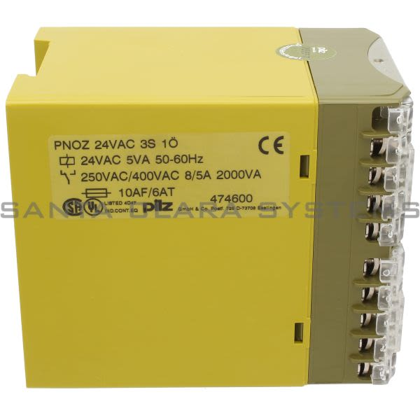 Pilz PNOZ24VAC3S1O-474600 Safety Relay Product Image