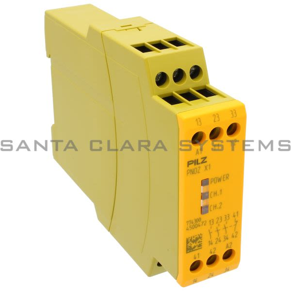 Pilz PNOZX124VAC-DC3N-O1N-C-774300 Safety relay (standalone) Inputs: Single-channel wiring Outputs: 3 N/O, 1 N/C UB 24 V AC/DC, width: 22.5 mm, plug-in ter Product Image