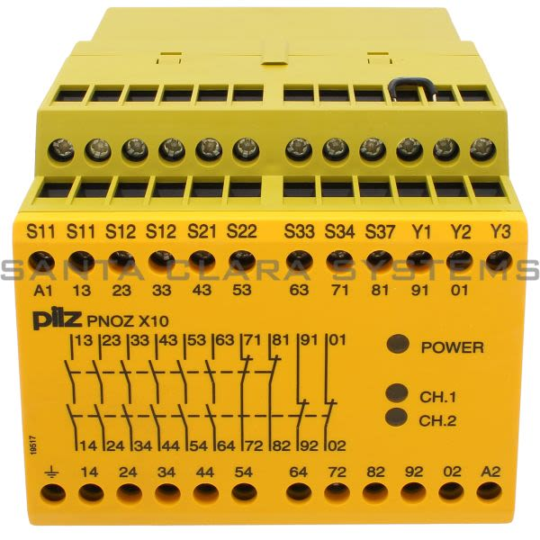 Pilz PNOZX10110-120VAC6N-O4N-C3LED-774703 Safety relay (standalone) Inputs: 1-/2-channel wiring with/without detection of shorts across contacts Outputs: 6 N/O, 4 Product Image