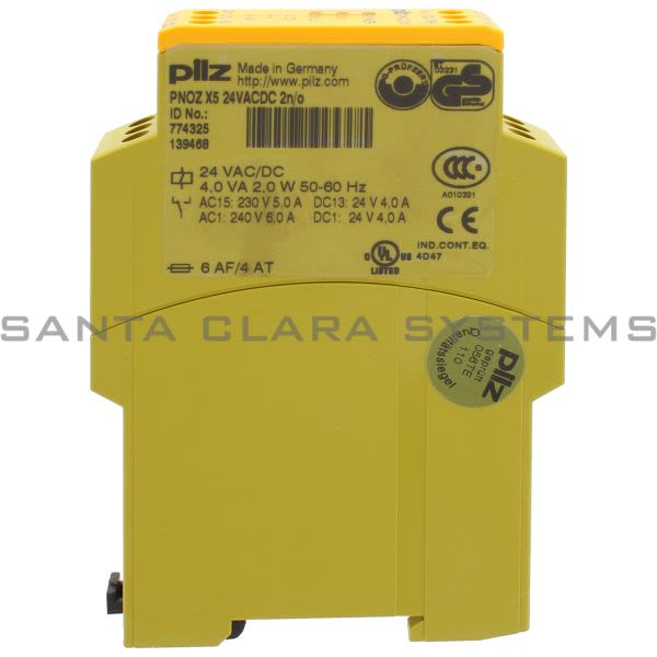 Pilz PNOZX524VACDC2N-O-774325 Safety relay (standalone) Inputs: 1-/2-channel wiring without detection of shorts across contacts Outputs: 2 N/O. Automa Product Image