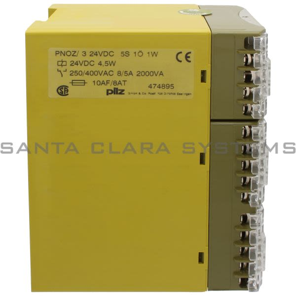 Pilz PNOZ-324VDC5S1O1W-474895 Safety Relay Product Image