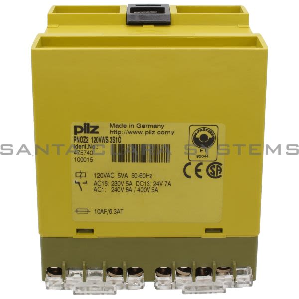 Pilz PNOZ2120VWS3S1O-475740 Safety Relay One Channel Product Image