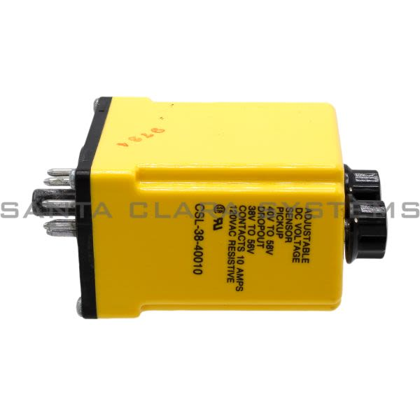 Potter & Brumfield CSL-38-40010 Voltage Monitoring Relay DPDT | Tyco 04366 Product Image