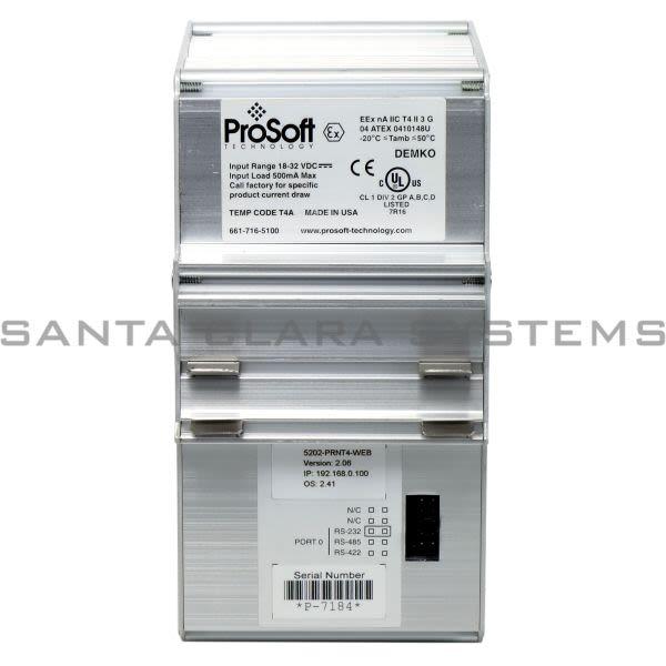 ProSoft 5202-PRNT4-WEB Ethernet Gateway Product Image
