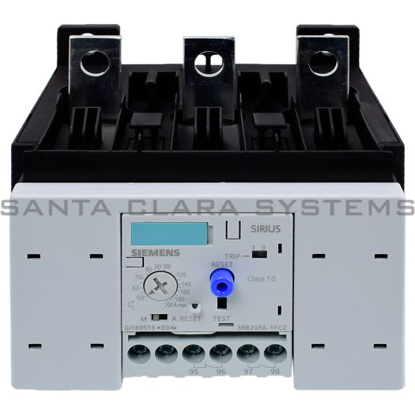3rb2056 1fc2 overload relay 3rb2056 1fc2 in stock and ready to ship santa clara systems. Black Bedroom Furniture Sets. Home Design Ideas