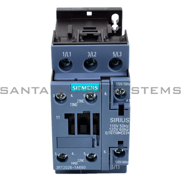 Siemens 3RT2026-1AK60 Contactor Product Image