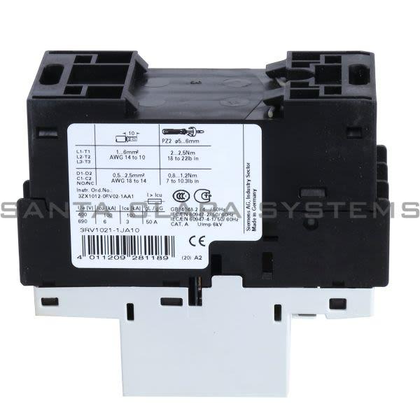 Siemens 3RV1021-1JA10 Motor Starter Protector | Sirius | 3RV1021-1JA10 Product Image