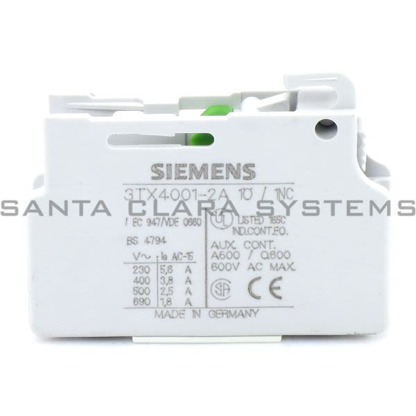 Siemens 3TX4001-2A Contact Block | 3TX4001-2A Product Image