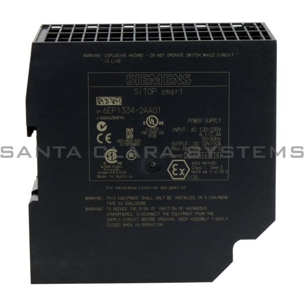 Siemens 6EP1334-2AA01 Power Supply | SITOP Smart | 6EP1334-2AA01 Product Image
