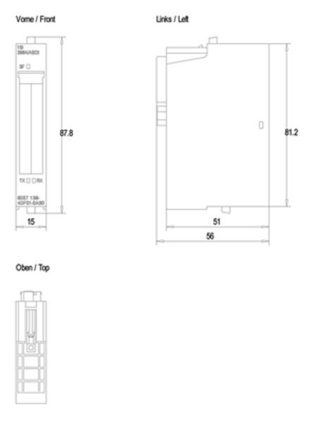 Siemens 6ES7138-4DF01-0AB0 Serial Module | 6ES7138-4DF01-0AB0 Product Image