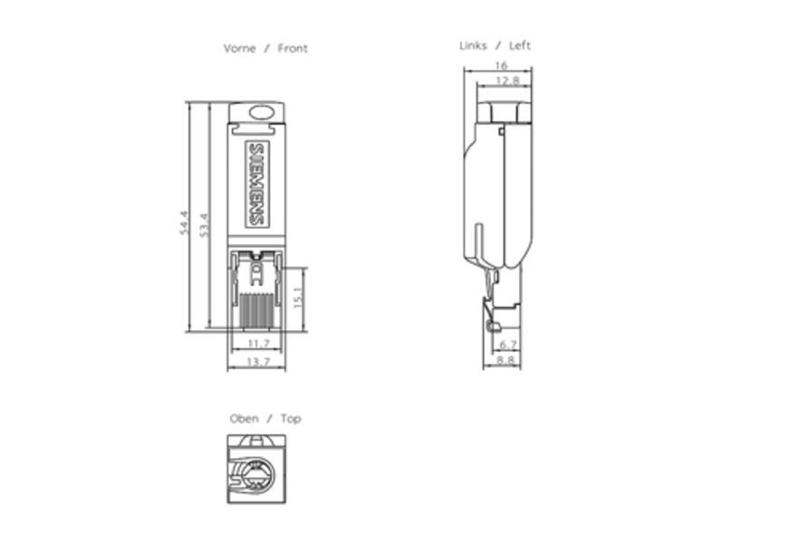 Siemens 6GK1901-1BB10-2AA0 Connector | 6GK1901-1BB10-2AA0 Product Image