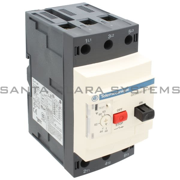 Telemecanique GV3ME63 Manual Motor Starter and Protector Product Image