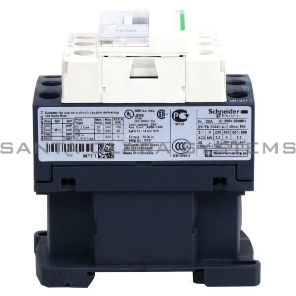 Telemecanique LC1D09T7 Contactor Product Image