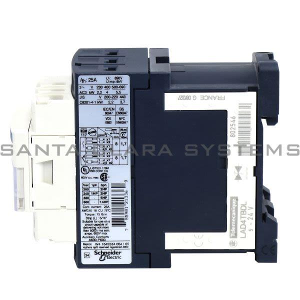 Telemecanique LC1D09BD TeSys D contactor - 3P(3 NO) - AC-3 - <= 440 V 9 A - 24 V DC coil Product Image