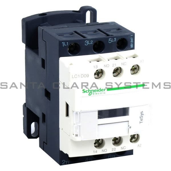 Telemecanique LC1D09T7 TeSys D contactor - 3P(3 NO) - AC-3 - <= 440 V 9 A - 480 V AC coil Product Image