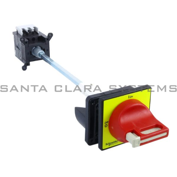 Telemecanique VCCDN12  TeSys Mini-Vario - emergency stop switch disconnector - 12 A - back of enclosure Product Image